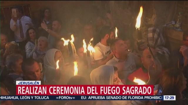 FOTO: Realizan ceremonia del Fuego Sagrado en Jerusalén, 27 ABRIL 2019