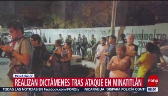 FOTO: Realizan dictámenes tras ataque en Minatitlán, Veracruz, 21 ABRIL 2019