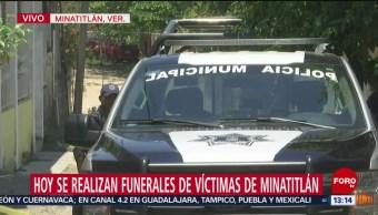 FOTO: Realizan funerales de victimas de ataque armado en Minatitlán, 21 ABRIL 2019
