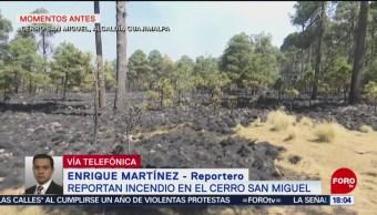 FOTO: Reportan incendio en el cerro San Miguel en la CDMX, 13 de abril 2019