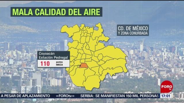 FOTO: Reportan mala calidad del aire en el Valle de México, 20 ABRIL 2019