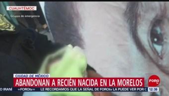 Rescatan a bebé recién nacida abandonada en colonia Morelos, CDMX