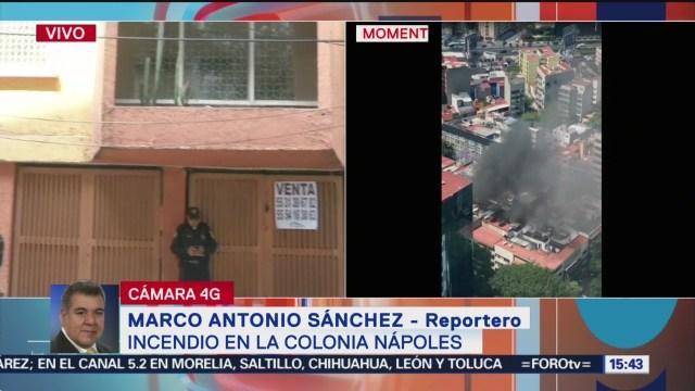 Foto: Rescatan a menores atrapados en departamento incendiado en CDMX