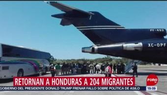 FOTO: Retornan a Honduras a 204 migrantes, 13 de abril 2019