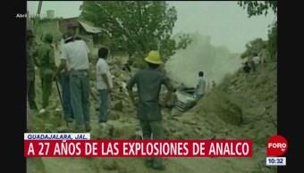 Se cumplen 27 años de explosiones en Analco, Jalisco