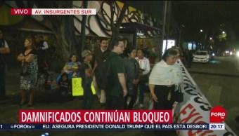 Foto: Se cumplen ocho horas de bloqueo en Insurgentes