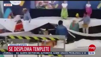 Foto: Se desploma templete durante bailable en Aguascalientes