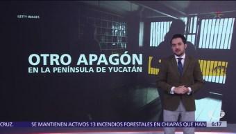 Se registra otro apagón en la Península de Yucatán