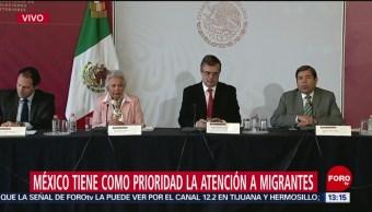 Foto: Segob y SRE ofrecen conferencia sobre migración