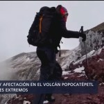 Foto: Seguridad y afectación en el volcán Popocatépetl por deportes extremos