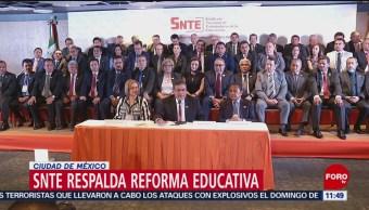 SNTE respalda reforma educativa