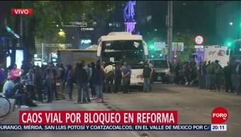 Foto: Bloqueo Reforma CDMX Manifestantes Tráfico 2 de Abril 2019