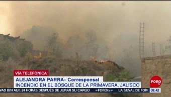 FOTO: Suman casi 20 horas de incendio en Bosque de La Primavera, Jalisco, 13 de abril 2019