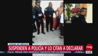FOTO: Suspenden a policía que disparó al aire en colonia Peralvillo, CDMX, 21 ABRIL 2019