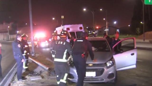 Foto: Un taxista muere durante un accidente automovilístico en Río Churubusco, CDMX, 11 abril 2019