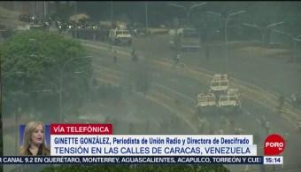 Foto: Tensión en las calles de Caracas, Venezuela