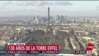 Foto: Torre Eiffel cumple 130 años
