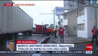 Foto: Tráiler Choca Contra Casa Aragón 22 de Abril 2019