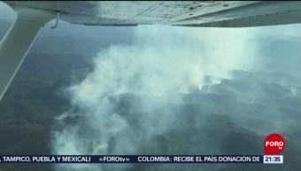 FOTO: Tres incendios forestales activos en San Luis Potosí, 14 de abril 2019