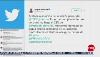 Foto: Tribunal Electoral pide explicaciones sobre designación de Barbosa