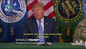 Foto: Trump reitera amenaza de cerrar la frontera