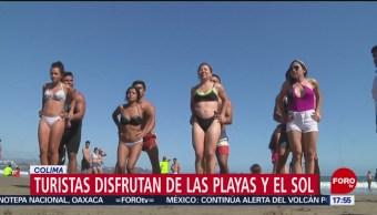 Foto: Turismo disfruta de la pascua en playas de Colima