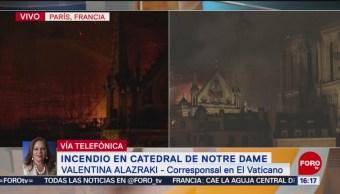 Foto: Vaticano sigue con tristeza incendio en Notre Dame