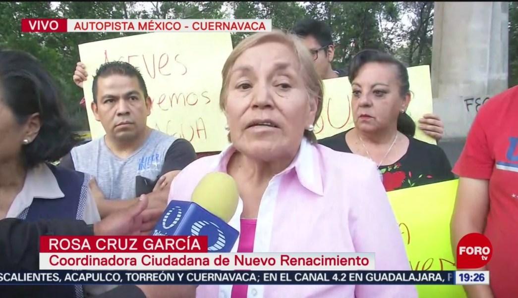 FOTO: Vecinos de colonia Nuevo Renacimiento bloquean autopista, 24 ABRIL 2019