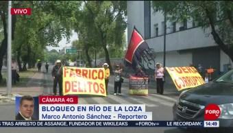 Foto: Vecinos de Culhuacán bloquean Río de la Loza
