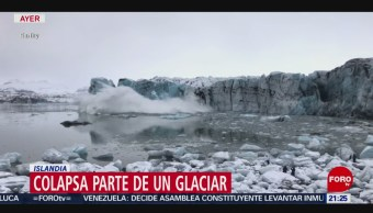 Foto: Video Colapsa Glaciar Islandia 2 de Abril 2019