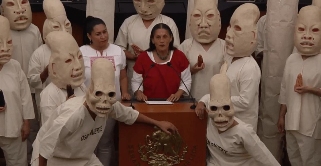 Video: Senadora Jesusa habla con Centéotl, dios del maíz