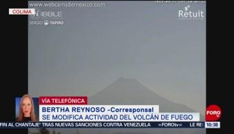 FOTO: Volcán de Colima registra incremento de sismicidad, 27 ABRIL 2019