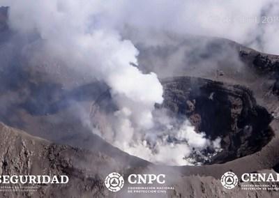 Nubosidad impide apreciar si hay nuevo domo en el Popocatépetl