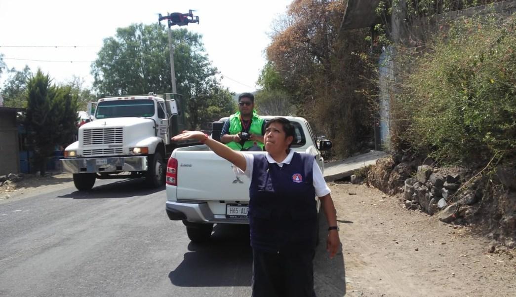 Foto: Rutas de evacuación por actividad del Popocatépetl, 3 de abril 2019. Twitter @PC_Estatal