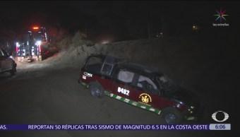 Vuelca camioneta de bomberos en alcaldía Milpa Alta