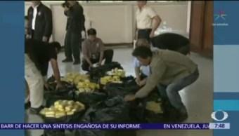 4 mexicanos, sentenciados en China por tráfico de metanfetaminas