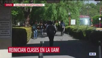 Alumnos vuelven a clases en la UAM Azcapotzalco
