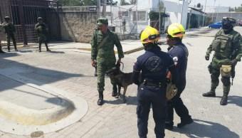 Foto: amenaza de bomba en Poder Judicial de León, 23 de mayo 2019. Twitter @Seguridad_Leon