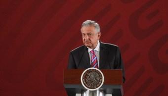 Foto: El presidente de México, Andrés Manuel López Obrador, durante su conferencia de prensa matutina en el Salón Tesorería de Palacio Nacional, 30 mayo 2019