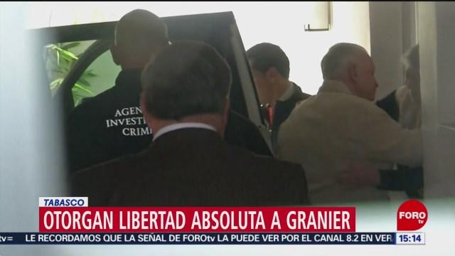FOTO: Andrés Granier logra libertad absoluta