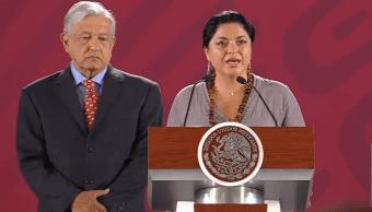 Foto: Andrés Manuel López Obrador y Alejandra Frausto Guerrero, 22 de mayo de 2019, Ciudad de México