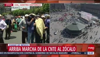 FOTO: Arriba marcha de CNTE al Zócalo para conmemorar el 1 de Mayo, 1 MAYO 2019