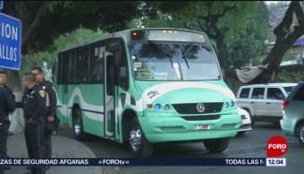 Asalto en transporte público de CDMX deja un herido