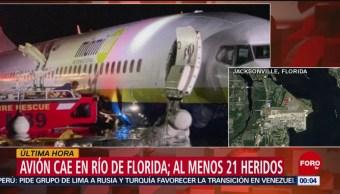 Foto: Avión Despista Aterriza Río Jacksonville Florida 3 Mayo 2019