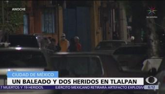 Balacera en Tlalpan deja un muerto y dos heridos