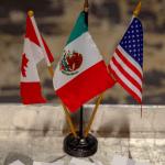 Foto: Banderas de Canadá, México y Estados Unidos, 21 de febrero de 2019