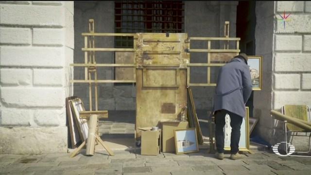 Foto: Banksy Venecia Montó Puesto Mostró Obras 23 Mayo 2019