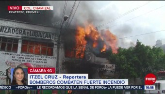 FOTO: Bomberos combaten incendio en El Chamizal, Ecatepec