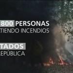 Foto: Brigadas para combatir incendios forestales en el país