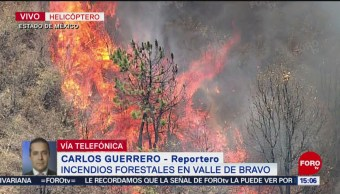 Foto: Brigadistas combaten incendios forestales en Valle de Bravo